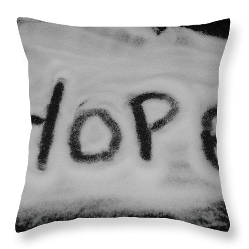Black And White Throw Pillow featuring the photograph Hope by Rob Hans