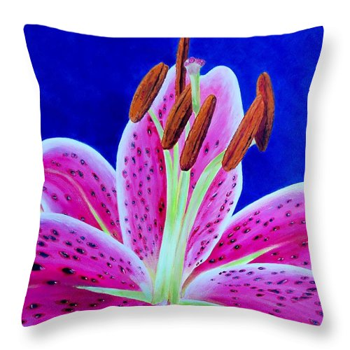 Sue Delain Throw Pillow featuring the painting Hope by Susan DeLain