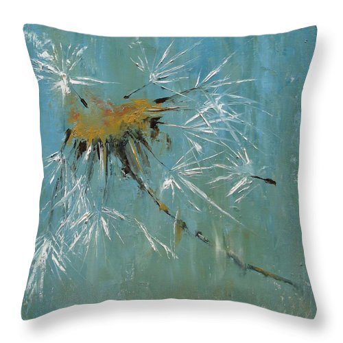 Plants Throw Pillow featuring the painting Hopes by Barbara Andolsek