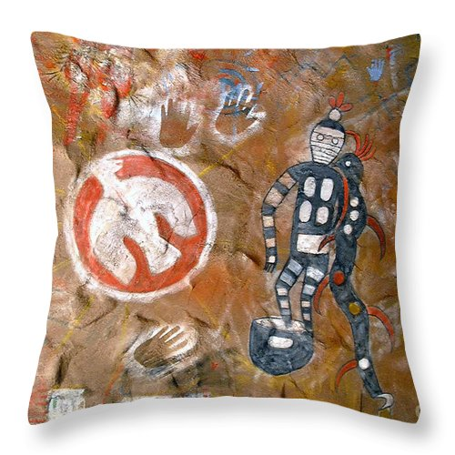 Hopi Indians Throw Pillow featuring the photograph Hopi Dreams by David Lee Thompson