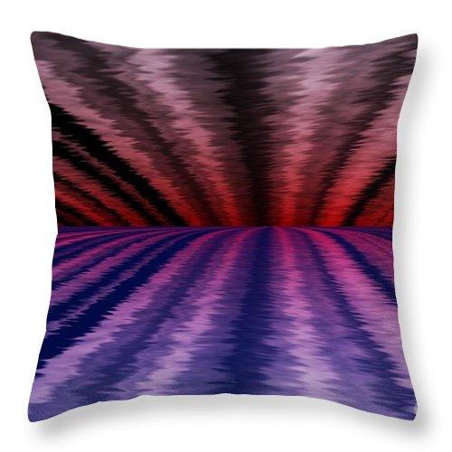 Abstract Throw Pillow featuring the digital art Horizon by David Lane