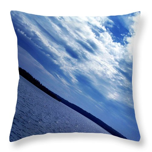 Sky Scape Throw Pillow featuring the photograph Horizon by Farah Faizal