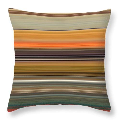 Landscape Throw Pillow featuring the digital art Horizont 2 by Rabi Khan