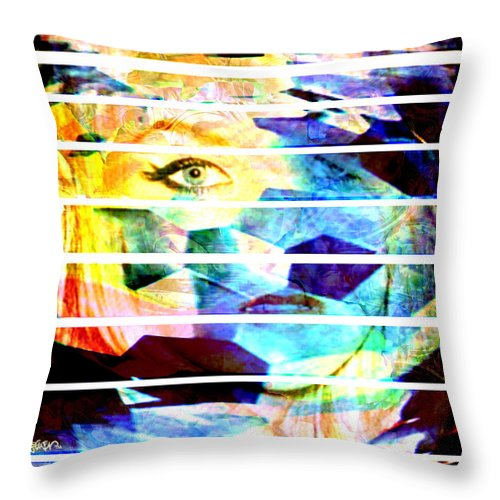 Woman Throw Pillow featuring the digital art Horizontal View by Seth Weaver