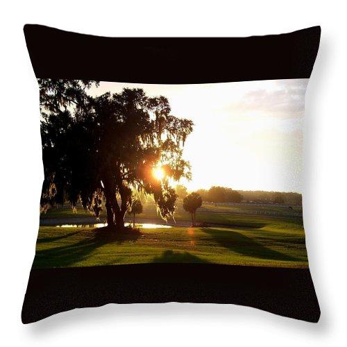Sunset Throw Pillow featuring the photograph Horse Country Sunset by Kristen Wesch