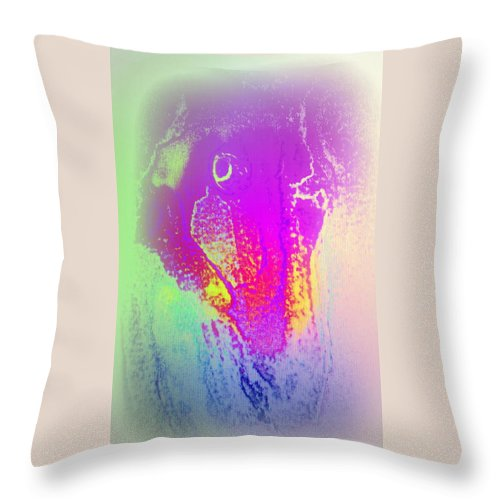 Feeling Throw Pillow featuring the painting When A Horse Faces Something Embarassing by Hilde Widerberg