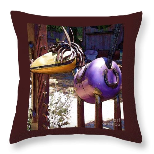 Sculpture Throw Pillow featuring the photograph Horse With No Name by Debbi Granruth