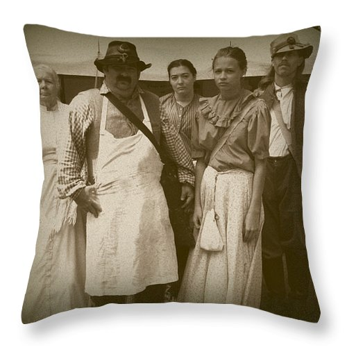 Civil Throw Pillow featuring the photograph Hospital Staff by David Dunham