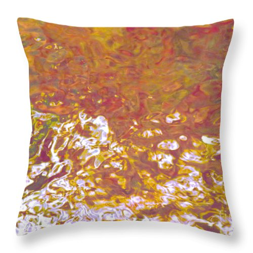 Abstract Throw Pillow featuring the photograph Forces Of Love Breaking Through by Sybil Staples