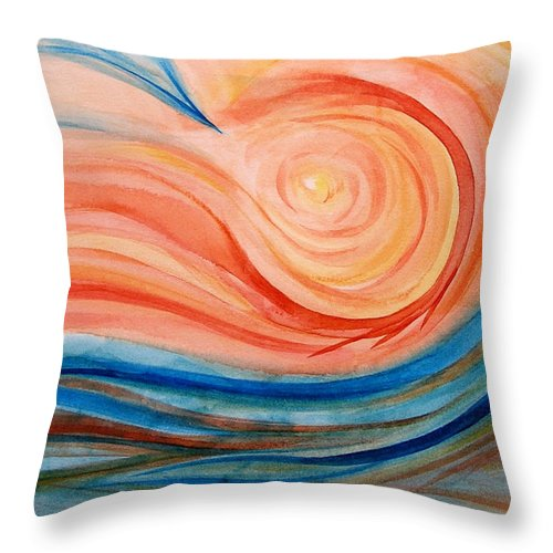 Original Throw Pillow featuring the painting Hot And Cold by Melissa Joyfully