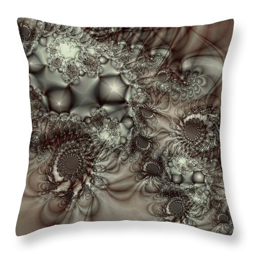 Green Throw Pillow featuring the digital art Hot Chocolate Possibilities by Casey Kotas
