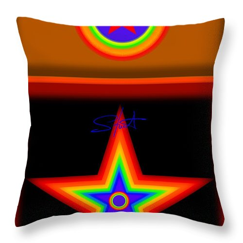 Classical Throw Pillow featuring the painting Hot Circus Stuff by Charles Stuart