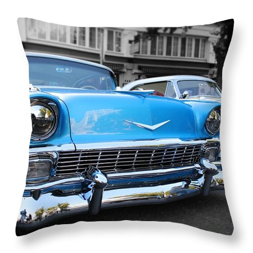 Cars Throw Pillow featuring the photograph hot Classic Cheves by Jesse Sanchez