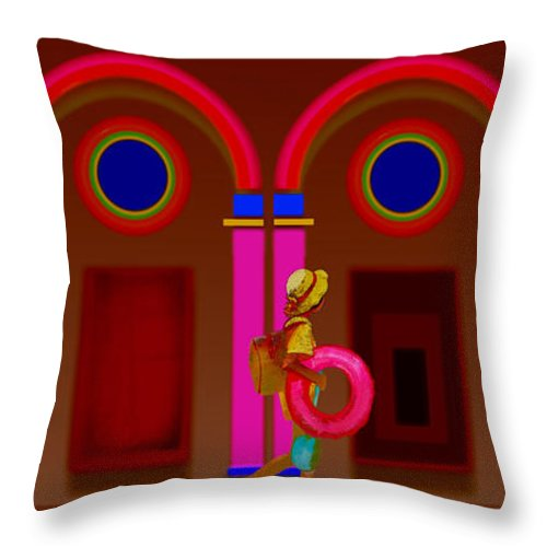 Classical Throw Pillow featuring the painting Hot Night In Rome by Charles Stuart