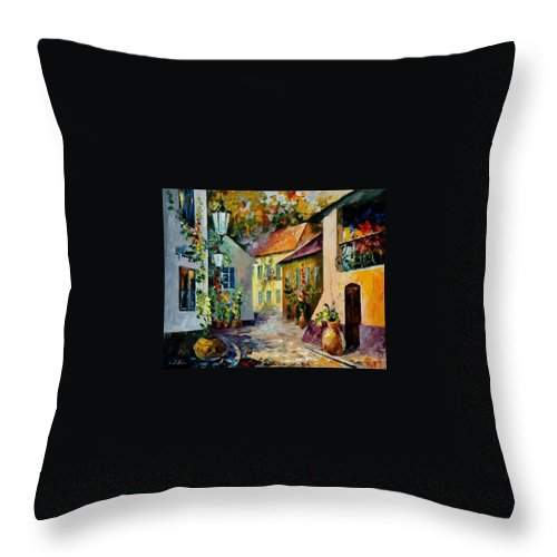 Landscape Throw Pillow featuring the painting Hot Noon Original Oil Painting by Leonid Afremov
