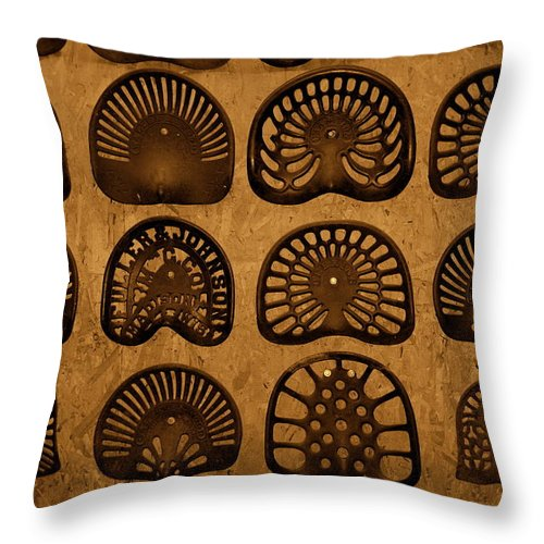 Tractor Seats Throw Pillow featuring the photograph Hot Seats by Susanne Van Hulst