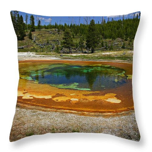 Hot Throw Pillow featuring the photograph Hot Springs Yellowstone National Park by Garry Gay