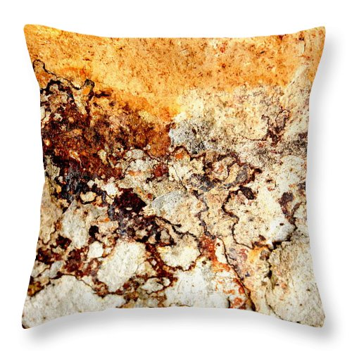 Abstract Throw Pillow featuring the photograph Hot Summer Day by Kathie Nichols