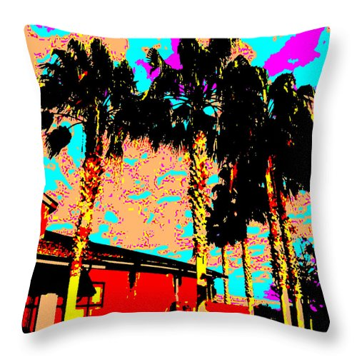 Square Throw Pillow featuring the digital art Hot Winter by Eikoni Images