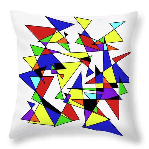 Mondrian Inspired Throw Pillow featuring the digital art Hourglasses by ME Kozdron