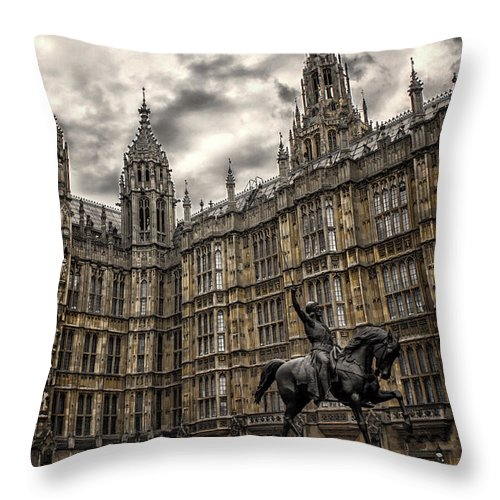 Architecture Throw Pillow featuring the photograph House Of Commons by Martin Newman