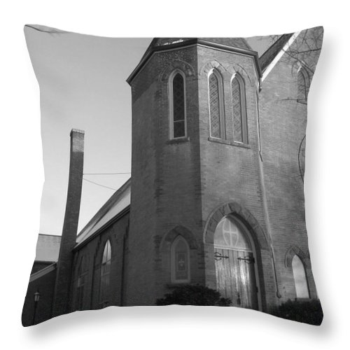 House Throw Pillow featuring the photograph House Of God by Rhonda Barrett