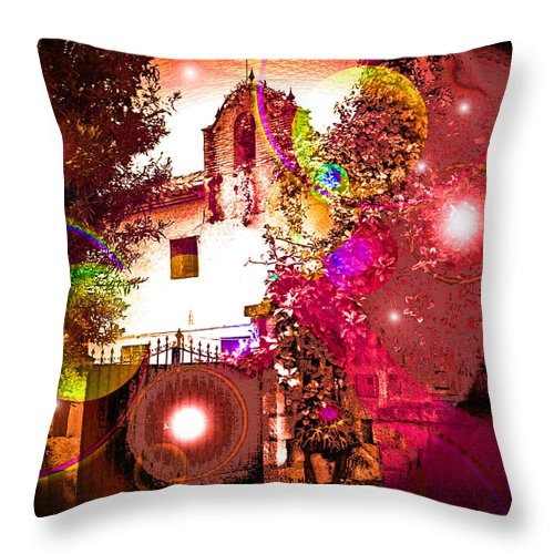 House Of Magic Throw Pillow featuring the photograph House Of Magic by Ingrid Dance
