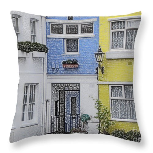House Throw Pillow featuring the photograph Houses by Amanda Barcon