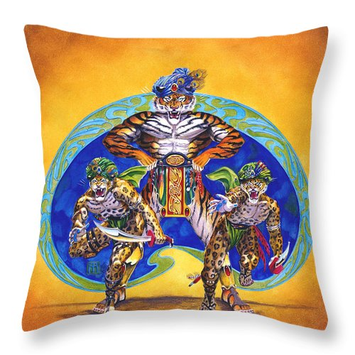 Anthro Throw Pillow featuring the painting Houshank's Justice by Melissa A Benson