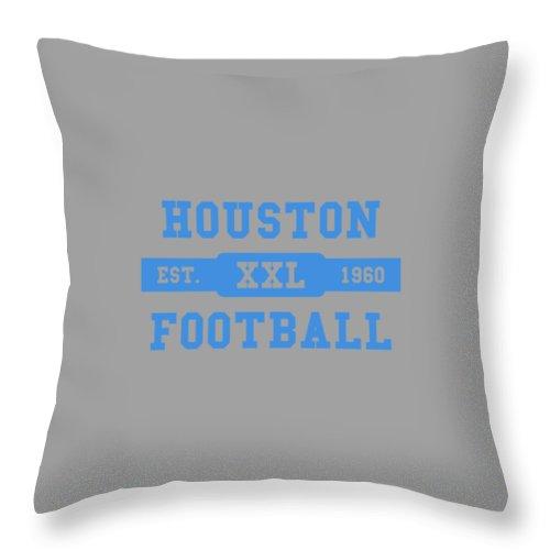 Oilers Throw Pillow featuring the photograph Houston Oilers Retro Shirt by Joe Hamilton