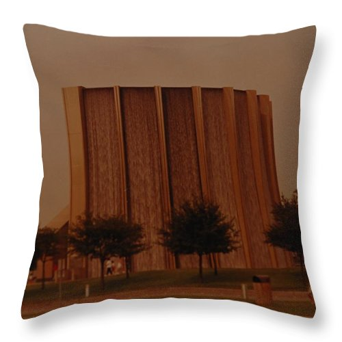Water Throw Pillow featuring the photograph Houston Waterfall by Rob Hans