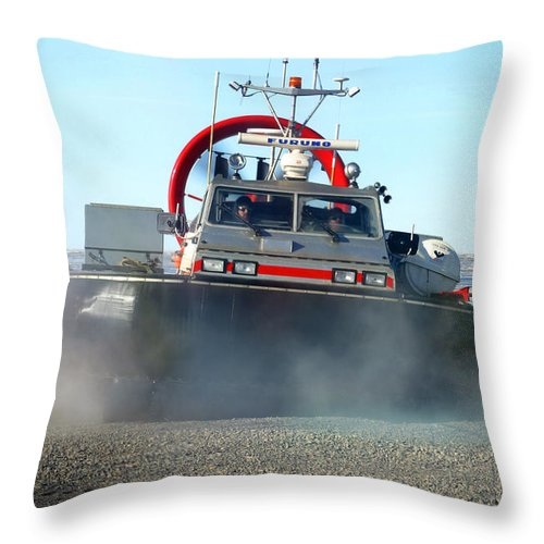 Hover Craft Throw Pillow featuring the photograph Hover Craft by Anthony Jones