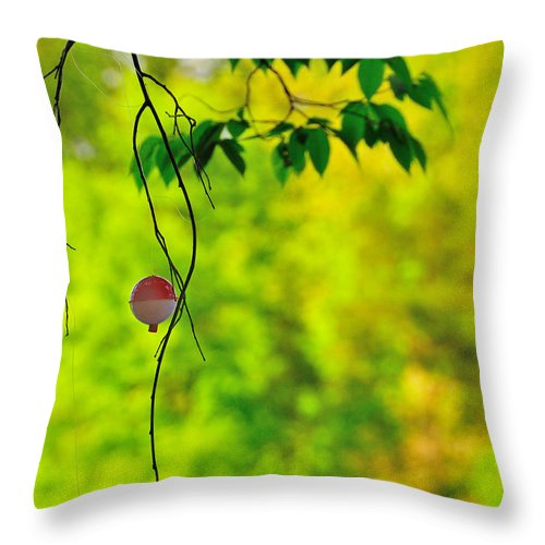 Bobber Throw Pillow featuring the photograph How To Catch A Tree by David Arment
