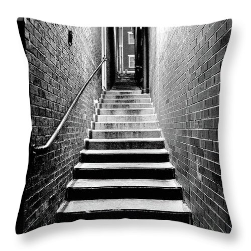 Brick Throw Pillow featuring the photograph How Work Feels by Greg Fortier