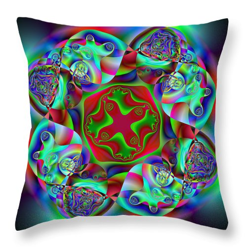 Abstract Throw Pillow featuring the digital art Howdowning by Andrew Kotlinski