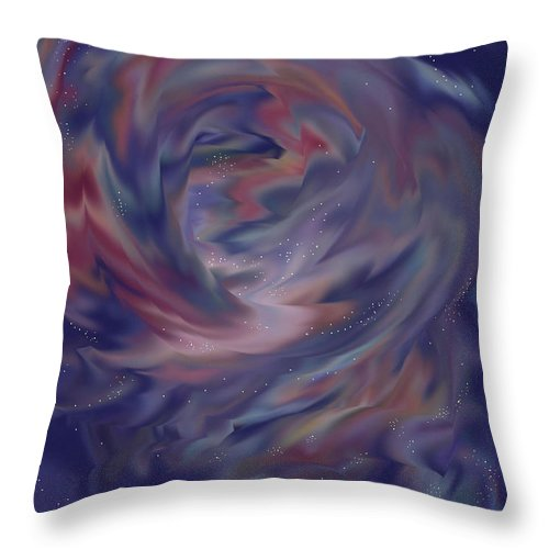 Starscape Throw Pillow featuring the painting Hubble One by Anne Norskog