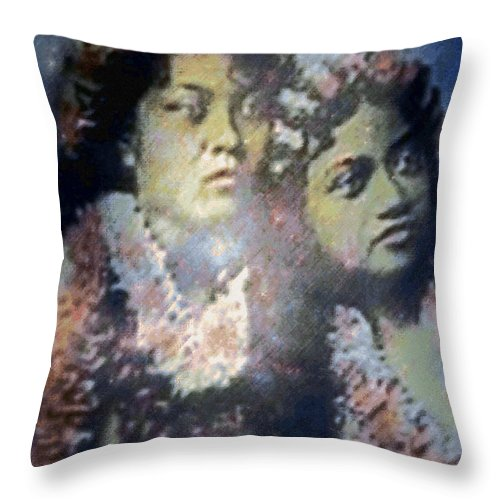 Tropical Interior Design Throw Pillow featuring the photograph Hula Kaika Ma Hine by Kenneth Grzesik