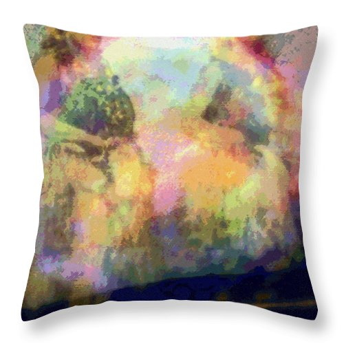 Tropical Interior Design Throw Pillow featuring the photograph Hula Waiona by Kenneth Grzesik