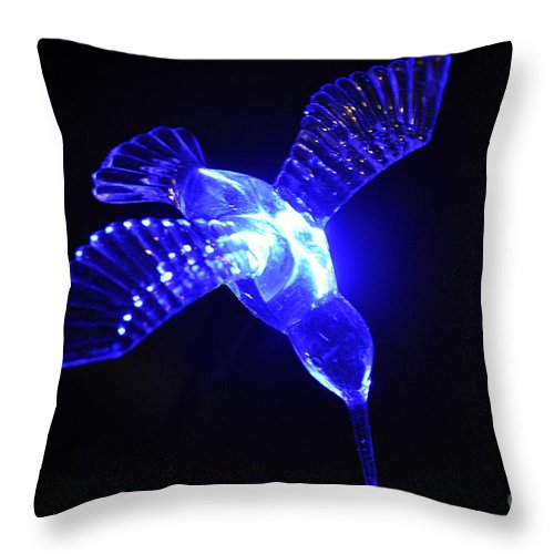 Clay Throw Pillow featuring the photograph Humming Bird Light by Clayton Bruster