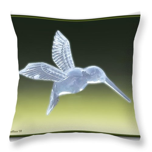 2d Throw Pillow featuring the photograph Hummingbird by Brian Wallace
