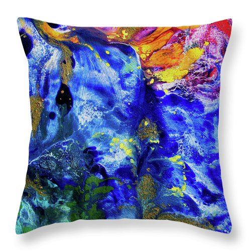 Hummingbird Throw Pillow featuring the painting Hummingbirds Dream by Mimulux patricia No