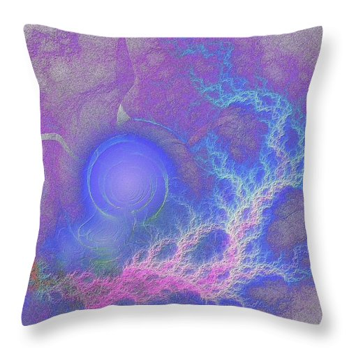 Fractal Throw Pillow featuring the digital art Humor Me by Lyle Hatch