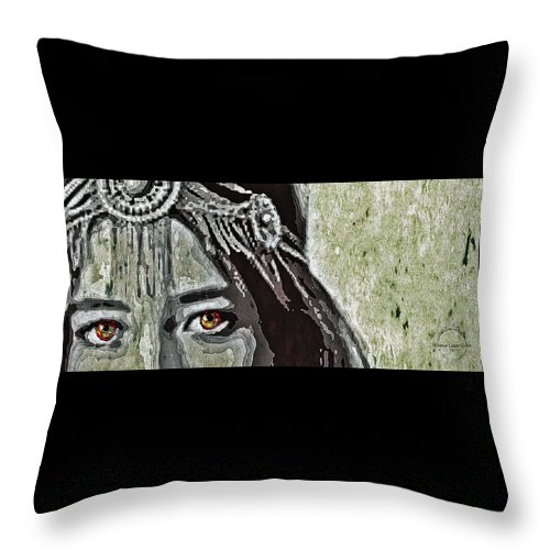 Eyes Throw Pillow featuring the digital art Hungry Eyes by Absinthe Art By Michelle LeAnn Scott