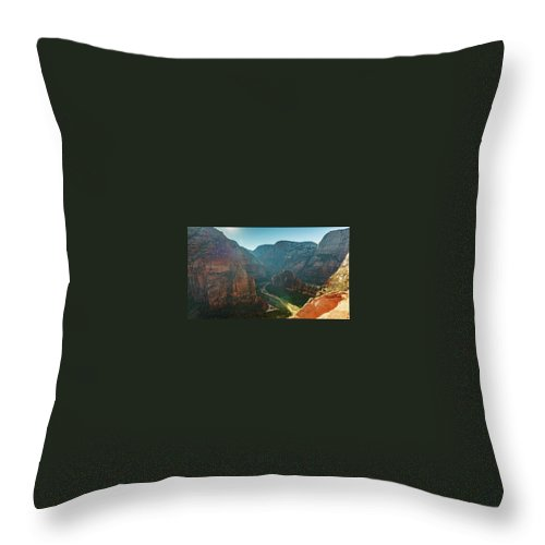 Utah Throw Pillow featuring the photograph Hurricane Canyon In Utah Usa by Artpics