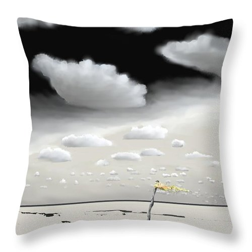 Hurricane Throw Pillow featuring the digital art Hurricane Pass Us By by Kerry Beverly