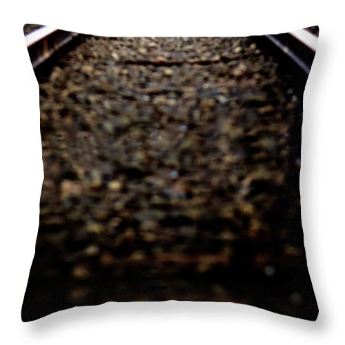 Train Throw Pillow featuring the photograph Hurtling Toward Me by Lisa Knechtel