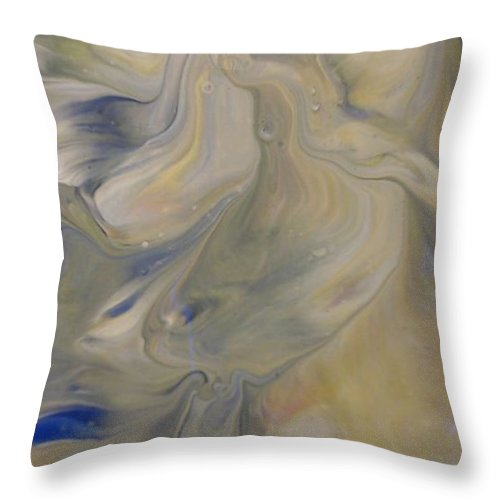 Abstract Throw Pillow featuring the painting Hush by C Maria Wall
