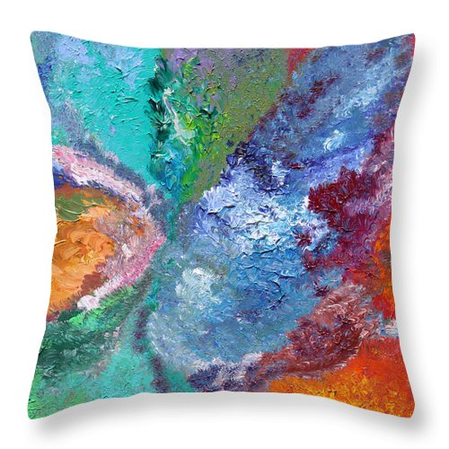 Fusionart Throw Pillow featuring the painting Hydrangea by Ralph White