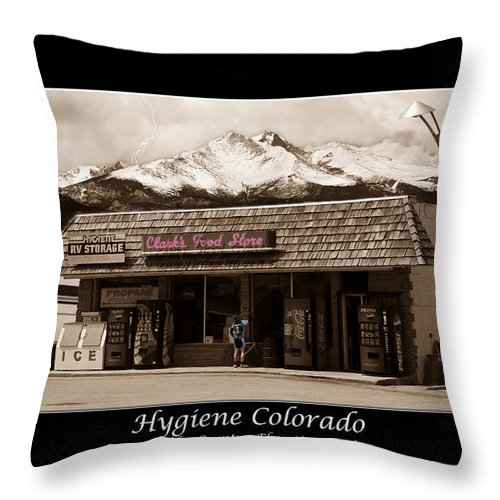Hygiene Throw Pillow featuring the photograph Hygiene Colorado Bw Fine Art Photography Print by James BO Insogna
