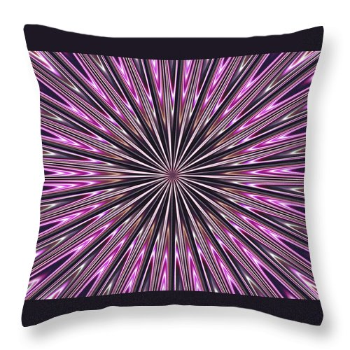 Fractal Throw Pillow featuring the photograph Hypnosis 4 by David Dunham